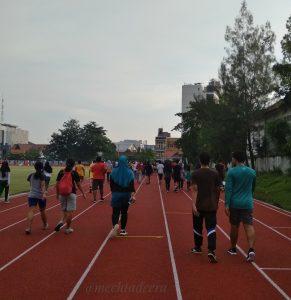 Olah raga di Stadion Tri Lomba Juang Semarang