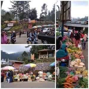 Pasar di Wana wisata Guci