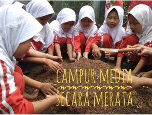 Media tanam organik : tanah, kompos, sekam