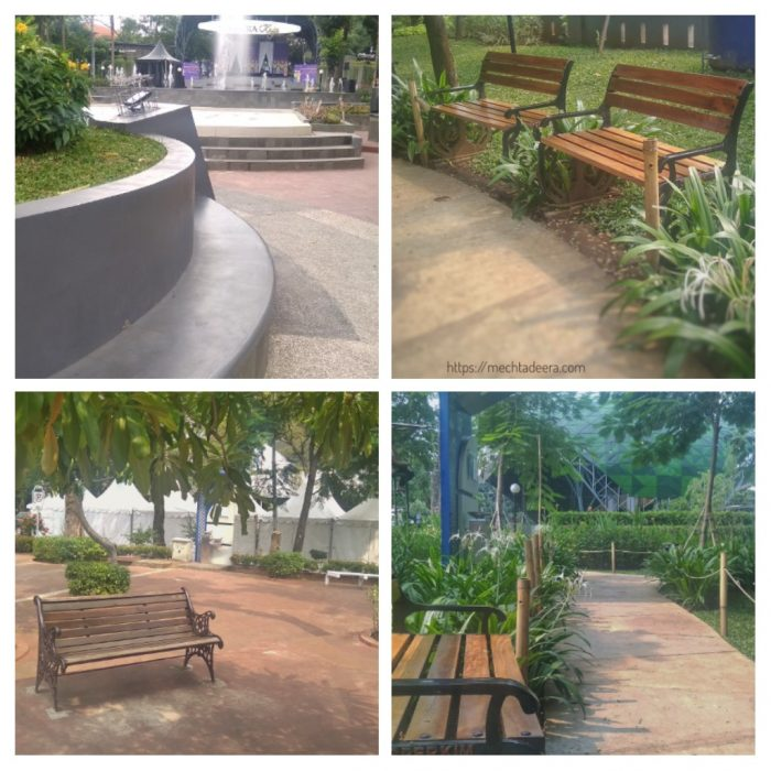 Kursi-kursi di Taman Indonesia Kaya