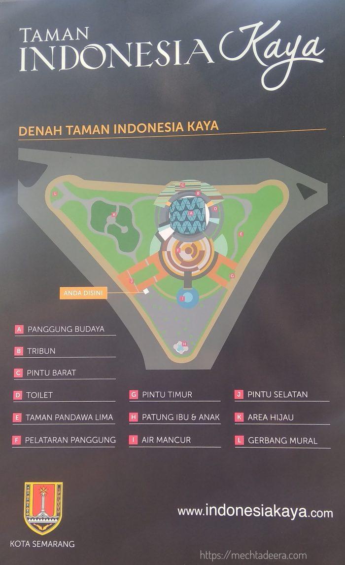 Denah Taman Indonesia Kaya
