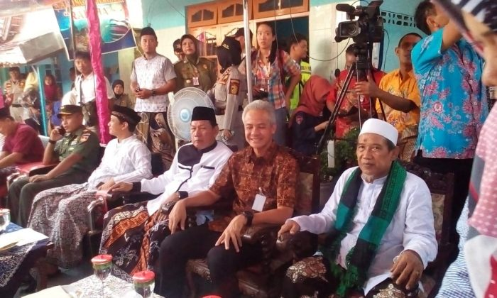 Gubernur Jateng di Lapisan dalam Perayaan Syawalan Kota Pekalongan 2019