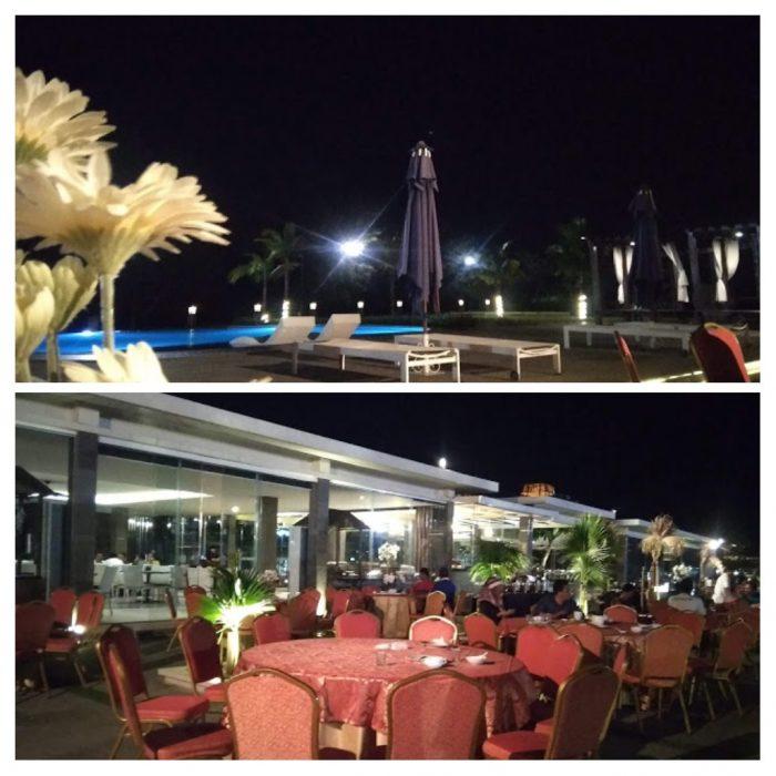 Ruang makan outdoor Sekuro Village Beach Resort