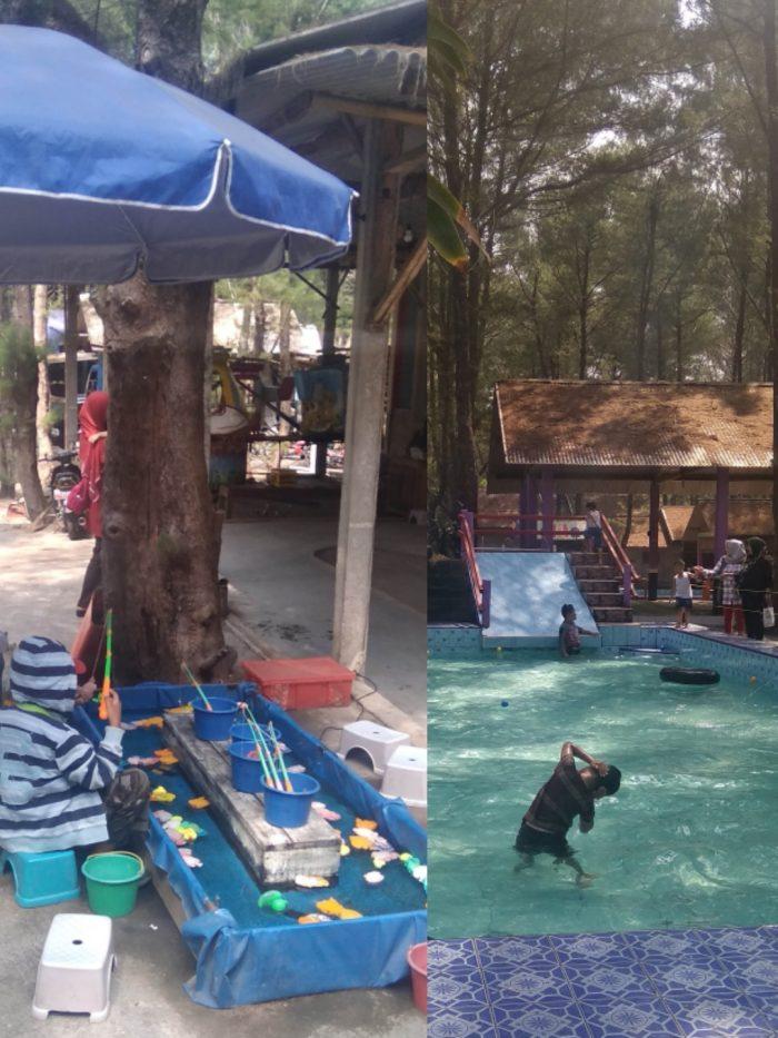 Permainan anak di Pantai Goa Cemara