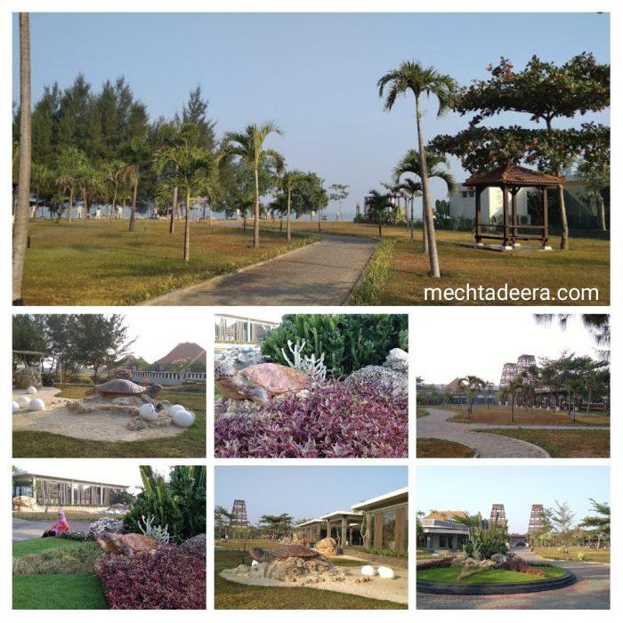 Ruang terbuka / taman di lingkungan Sekuro Resort