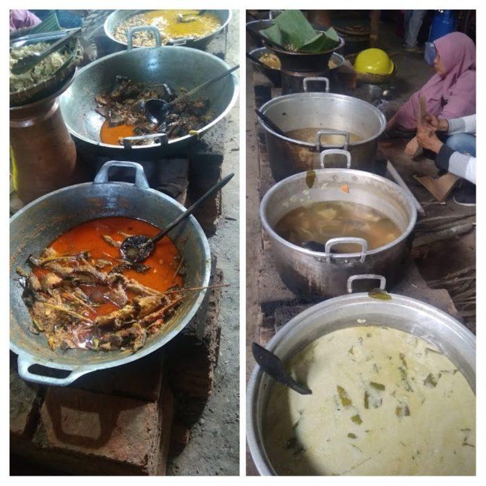 Prasmanan sayur di Kampung Jawa Pawone Simbah