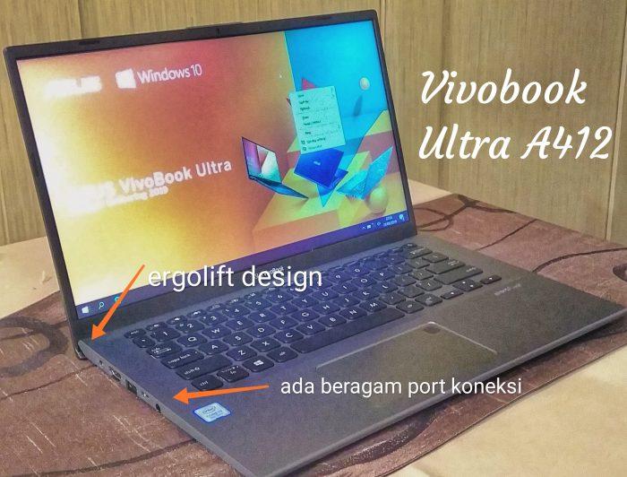 Ergolift design pada Vivobook Ultra A412