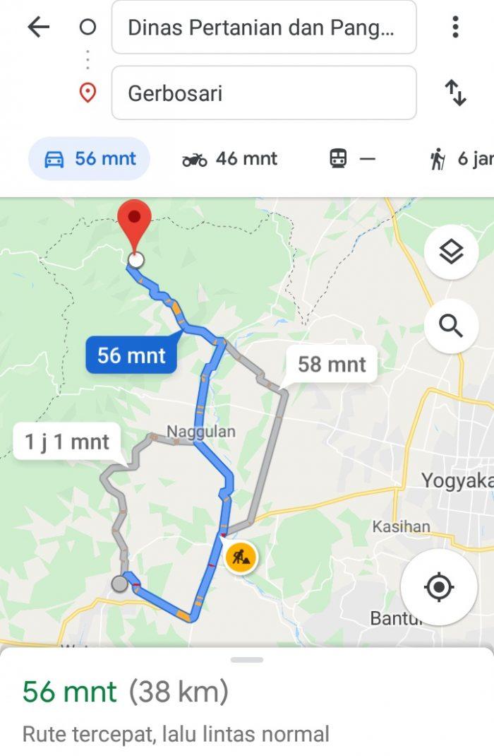 Map Gerbosari - Wates