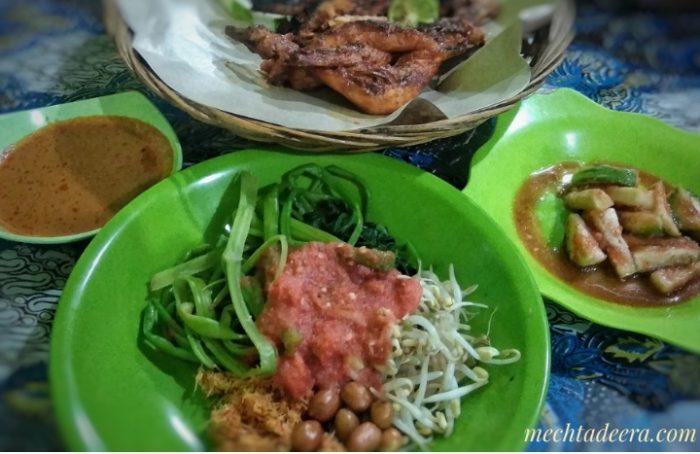 Menu makan malam di Lombok