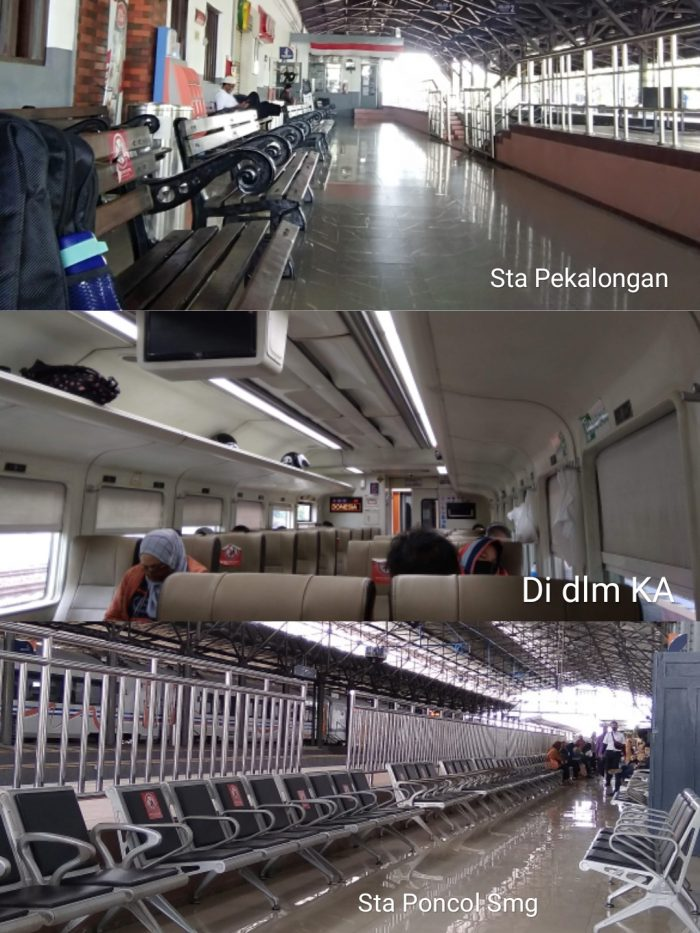 Suasana stasiun & KA