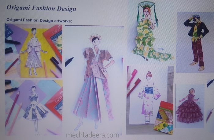 Creative Art Series Origami Fashion Design