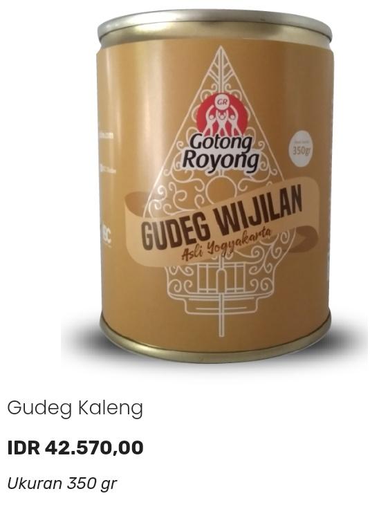 Gudeg Wijilan Kaleng produk ISC