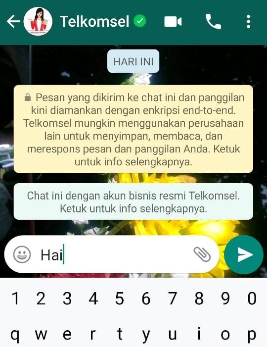 Memulai chat dengan Tanya Veronika di Whatsapp
