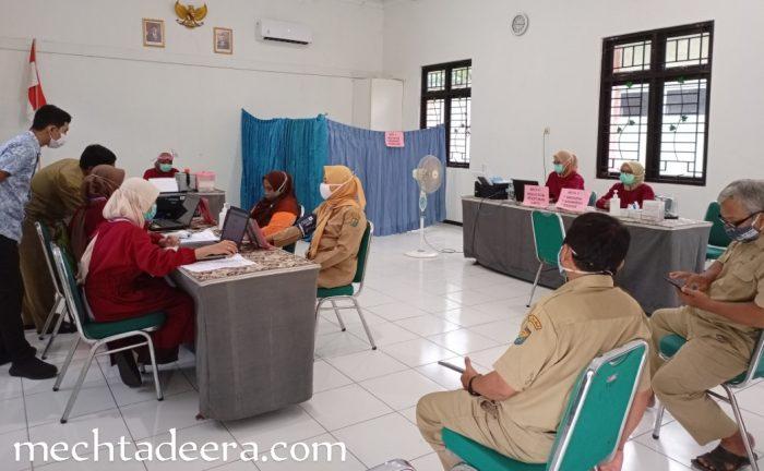 Tempat vaksinasi Covid19 di kantor OPD