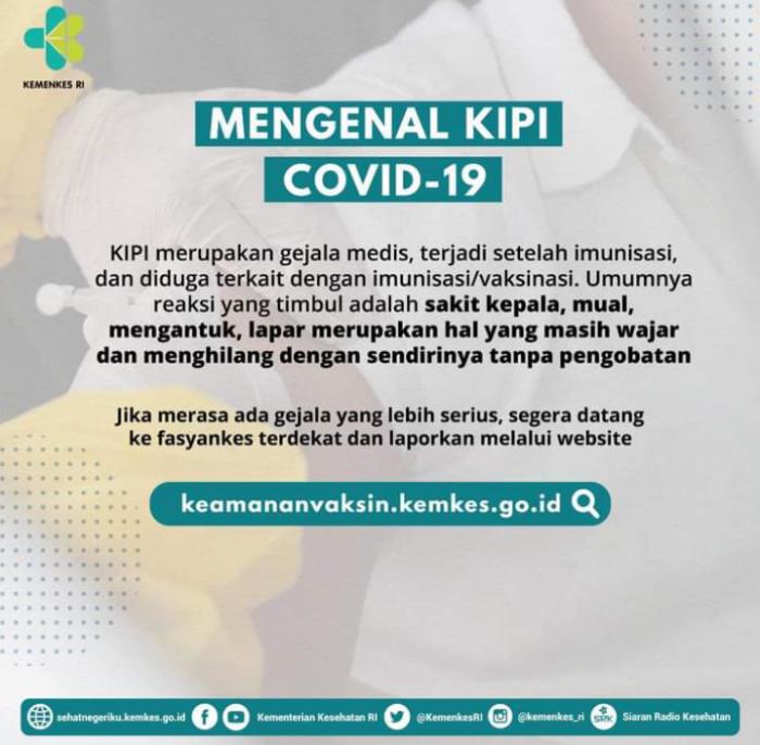 KIPI setelah vaksin Covid19