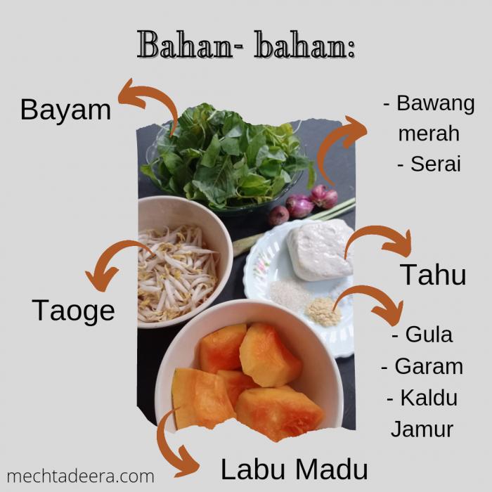 Bahan Sayur Labu Madu