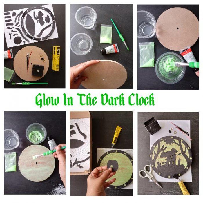 proses pembuatan glow in the dark clock